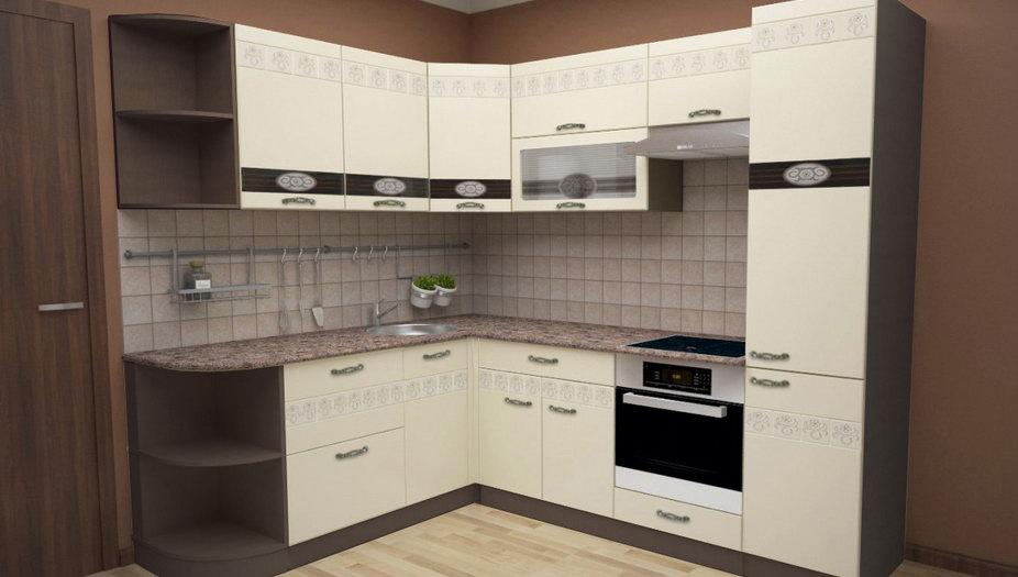 Модульная кухня Клауди с каркасом Венге