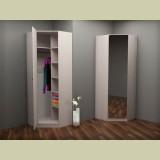 Шкаф зеркальный угловой